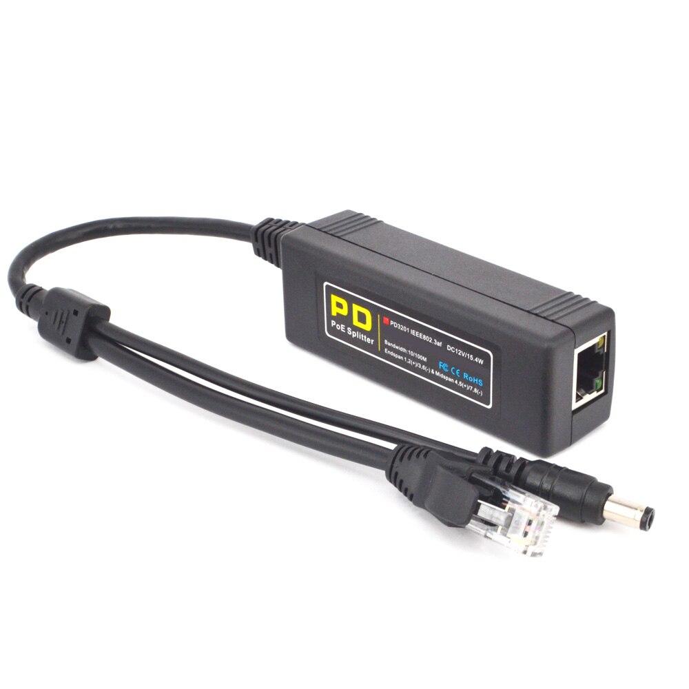 CTVMAN POE Splitter Power over Ethernet Adaptateur DC 12 V IEEE 802.3af 10/100 Mbps Rj45 Port Pour Réseau Surveillance IP Caméra