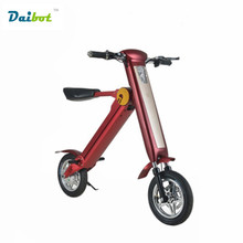 2017 New 12 Inch Mini Smart two Wheels Foldable Electric Bicycle Scooter E-Bike Electric Unicycle 25km/h ride 35-45km LG battery