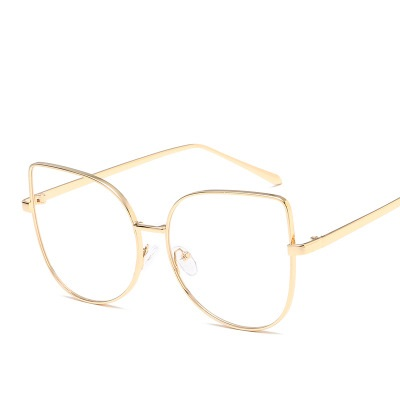 LEONLION Cat Eyeglasses Metal Oversize Myopia Optical Clear Lens Glasses Alloy Frame Transparent Blue Light Glasses Frame Women in Women 39 s Eyewear Frames from Apparel Accessories