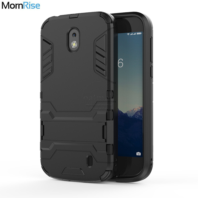 pretty nice 905d2 0ad9d US $2.92 35% OFF|New Dual layer Tough Hybrid Armor Back Cover For Nokia 7  plus 2018 Case With Kickstand PC+TPU Mobile Phone Bags Fundas-in Fitted ...