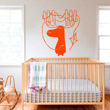 Hoorns Herten Fawn Dier Decals Kite DIY Kinderkamer Kids Nursery Muurstickers Speelkamer Braak Adhesive Art Decal(China)