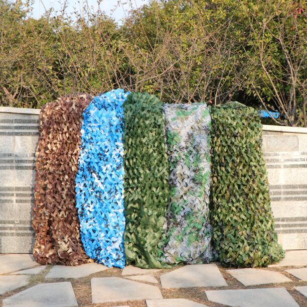 2x3m 2x4m 2x5m 3x3m 3x4m Hunting Military Camouflage Nets Woodland Army Camo Netting Camping Sun ShelterTent Shade Sun Shelter