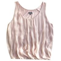 Women Summer Silk Blouse O neck Sleeveless office wear casual elegant natural silk blouses Pink real silk shirt tops