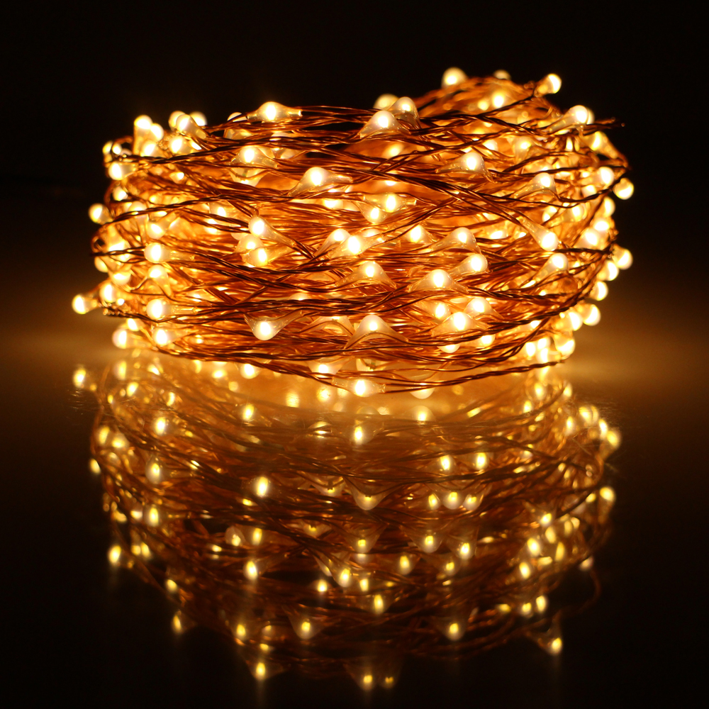 66ft 20m 200led Copper Wire Led String Lights With 12v 1a