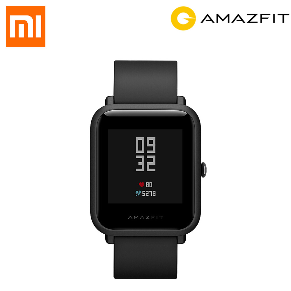 Xiaomi Huami Amazfit Bip Smart Watch GPS Gloness Smartwatch Bluetoot 4.0 GPS Heart Rate Monitor 45 Days Standby Global Version original xiaomi huami amazfit bip smart wristband watch gps smart clock heart rate pulse monitor long standby 1 28 touch screen