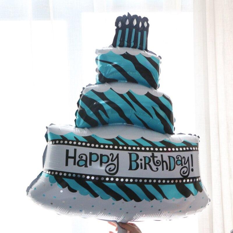 Sweet Life Three Layer Cake Birthday Aluminum Balloon Party