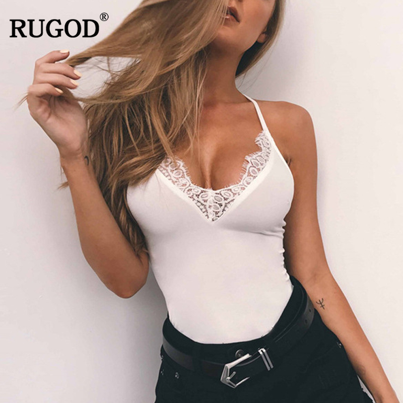 RUGOD 2018 Newest Sexy Lace Bodysuit Women Perspective Body Romper Summer Party Playsuits Overalls Combinaison Femme