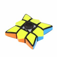 Finger Spinner Cube Toy Children Kids 3x3x1 Fidget Infinity Puzzle Cube Toys(China)