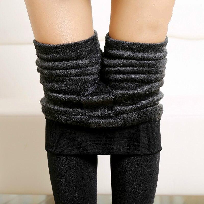 Winter Leggings Women's Warm Leggings High Waist Thick Velvet Warm Seamlessly Integrated Inverted Cashmere Leggings Warm Pants