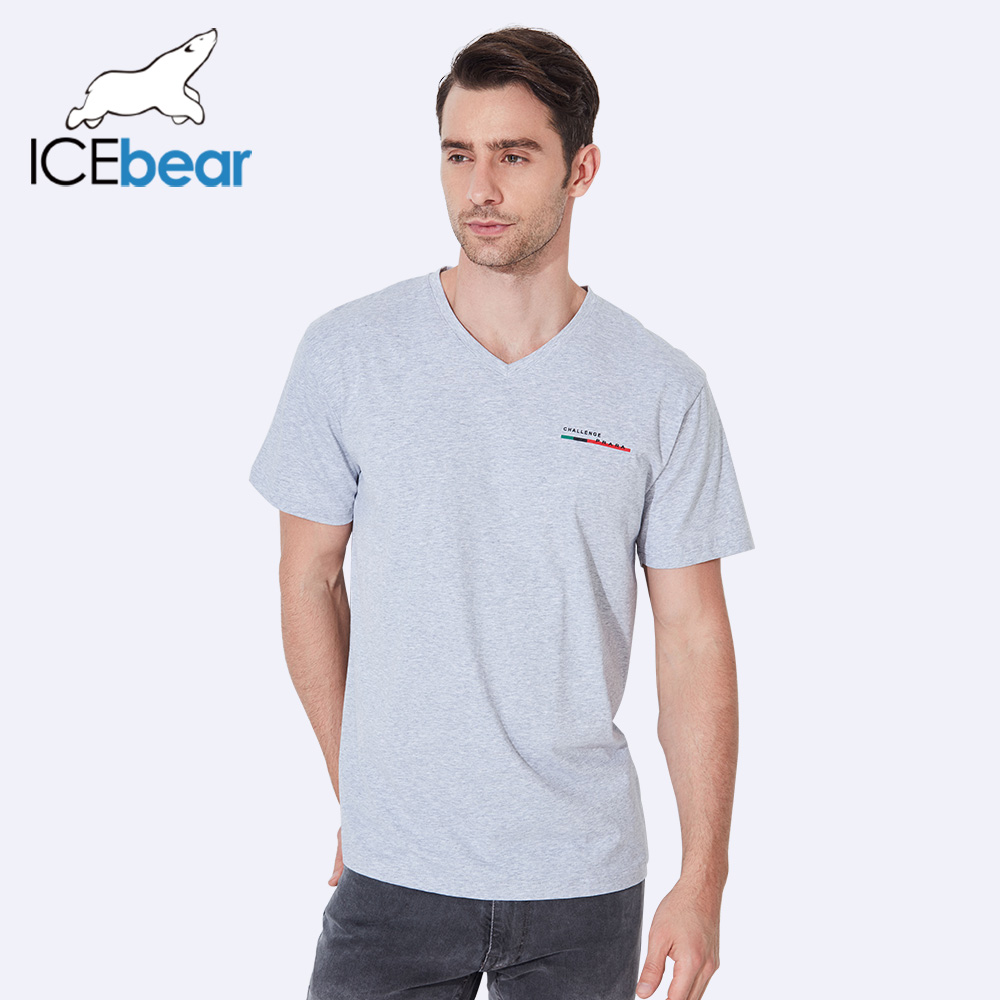 ICEbear 2017 New Design Summer Thin Solid Short Sleeve Breathable Comfortable Top Quality Elastic Sort t-Shirt Men 37305D ...