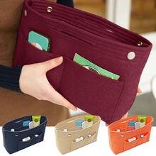 Women Organizer Handbag Travel Bag Insert Liner Purse Organi