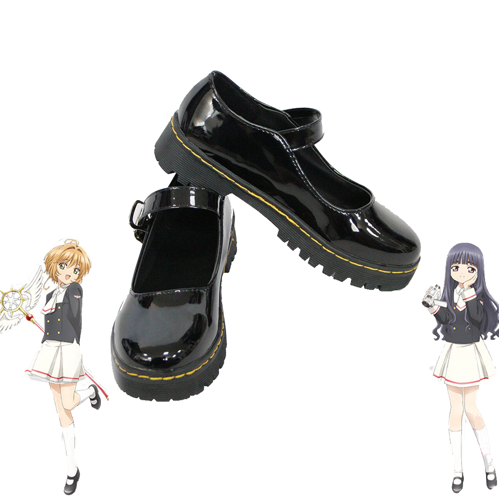 Anime Card Captor Sakura Cosplay <font><b>Shoes</b></font> Girls JK <font><b>Shoes</b></font> Women Universal <font><b>Lolita</b></font> <font><b>Shoes</b></font> Japanese School Student Uniform <font><b>Shoes</b></font> image
