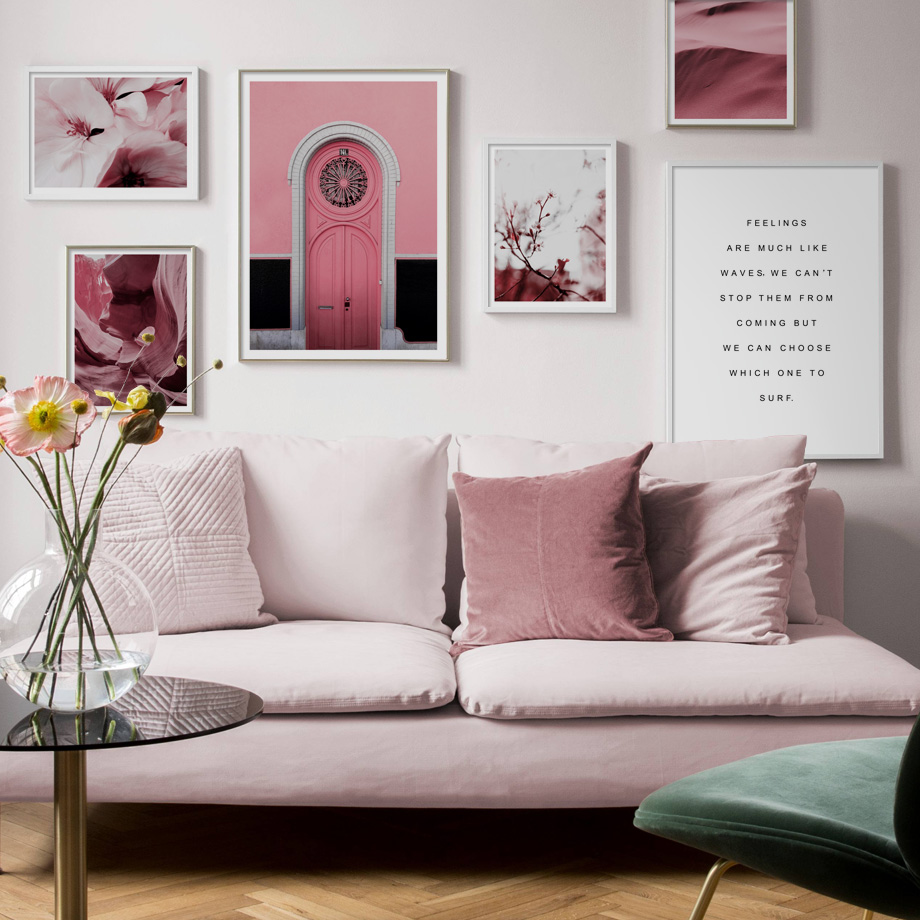 Pink Antelope Canyon Flower Desert Morocco Door Nordic Posters And Prints Wall Art Canvas Painting Pictures For Living Room