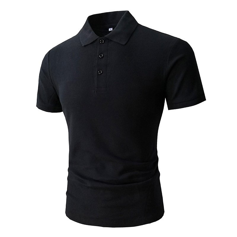 2018 poloshirt men trade short-sleeved cotton black color man poloshirt   polo   shirt hombre   polo   shirt men