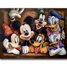 Full square diamond 5D DIY painting Disney Family 3D embroidery cross stitch rhinestone mosaic decoration