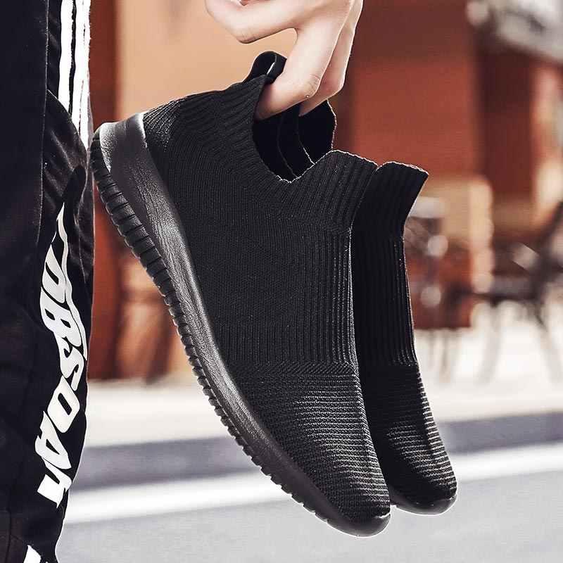 הקיץ גדול גודל גברים ריצה נעלי גרבי נעלי ספורט גברים ספורט נעלי ספורט לבן Krasovki Erkek Kadin Ayakkabı Spor טניס ללכת A-206