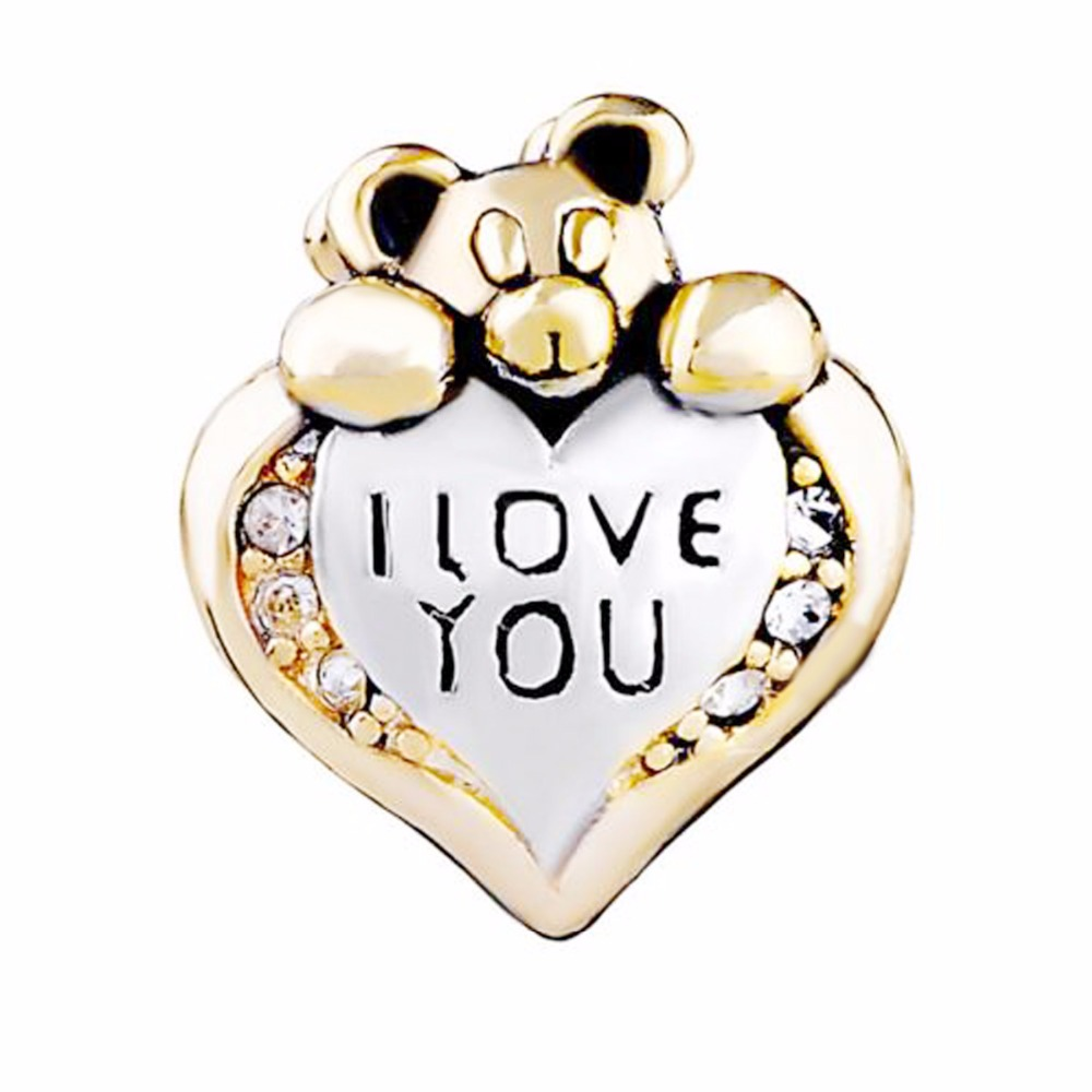 slide charm Free shipping Love the little mouse beads fit Pandora charm bracelet hand jewelry accessories Christmas gift
