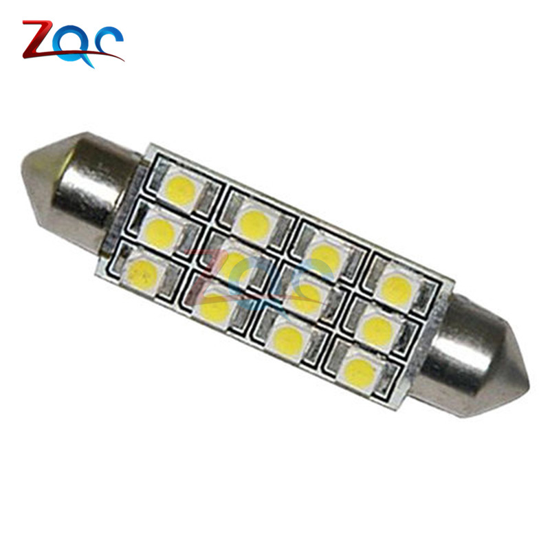 8 x 42mm 16 3528 SMD LED Bulbs White Car Dome Festoon Interior Light 12V R SODIAL