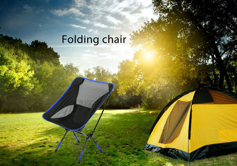 Different Colors Beach Chair Fishing Chair Moon Chair Heightened Chair Foldable Stool Outdoor Equipment For Outoor Activities Outdoor Furniture