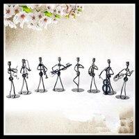 Set de 8 Unidades de Música Pequeño Iron Man Figura de Metal Artesanía Regalos Decoración Para El Hogar Ornamentos Decoraciones Hogar ElimElim
