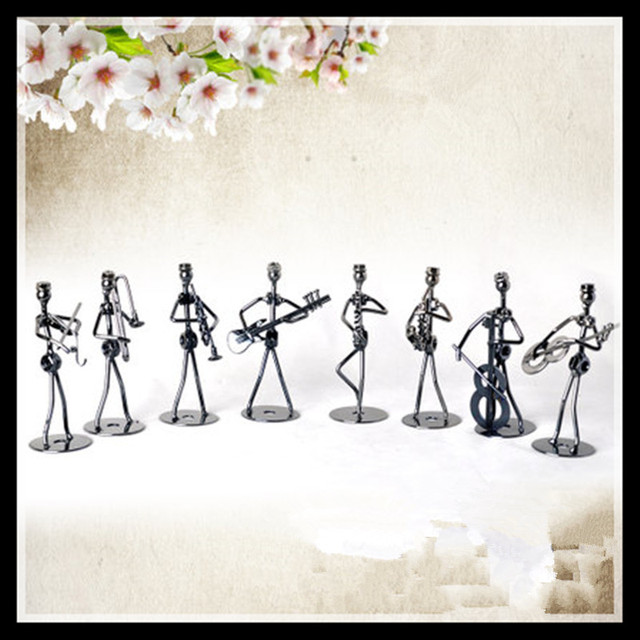 Retro Metal Music Band Figurines Set