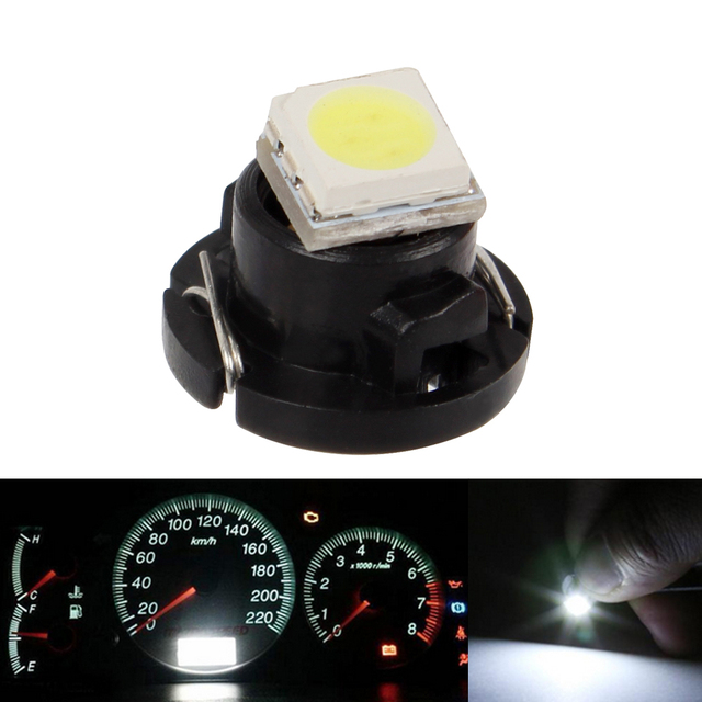 50 Stks T3 Led Auto Dashboard Lampen Smd 3528 Automobiles
