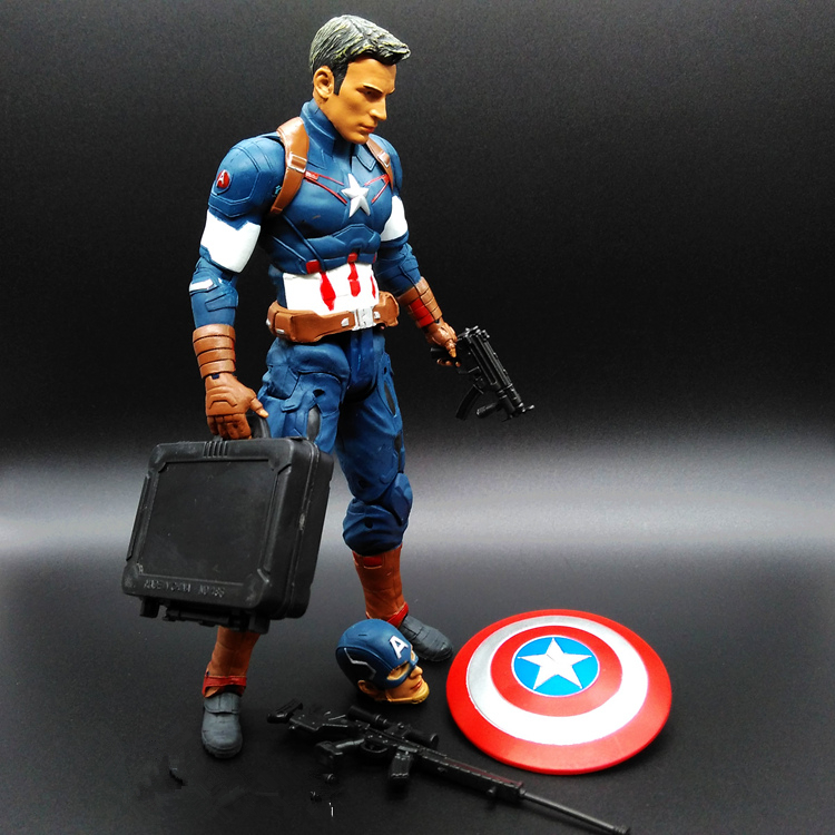 SAINTGI Captain America 3 Civil War Avengers Iron Man Hulk MARVEL Movable Movie PVC 20cm Action Figure 4Style Shield Kids Toy marvel captain america civil war iron man action figure collectible model toy
