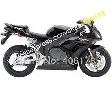 Hot Sales,100% fitment For Honda CBR1000RR CBR1000 RR 06 07 CBR 1000 RR Full black 2006 2007 Sports Fairing (Injection molding)