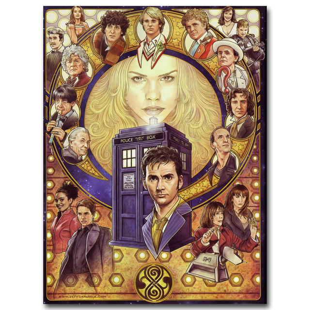 Плакат гобелен шелковый сериал Доктор кто