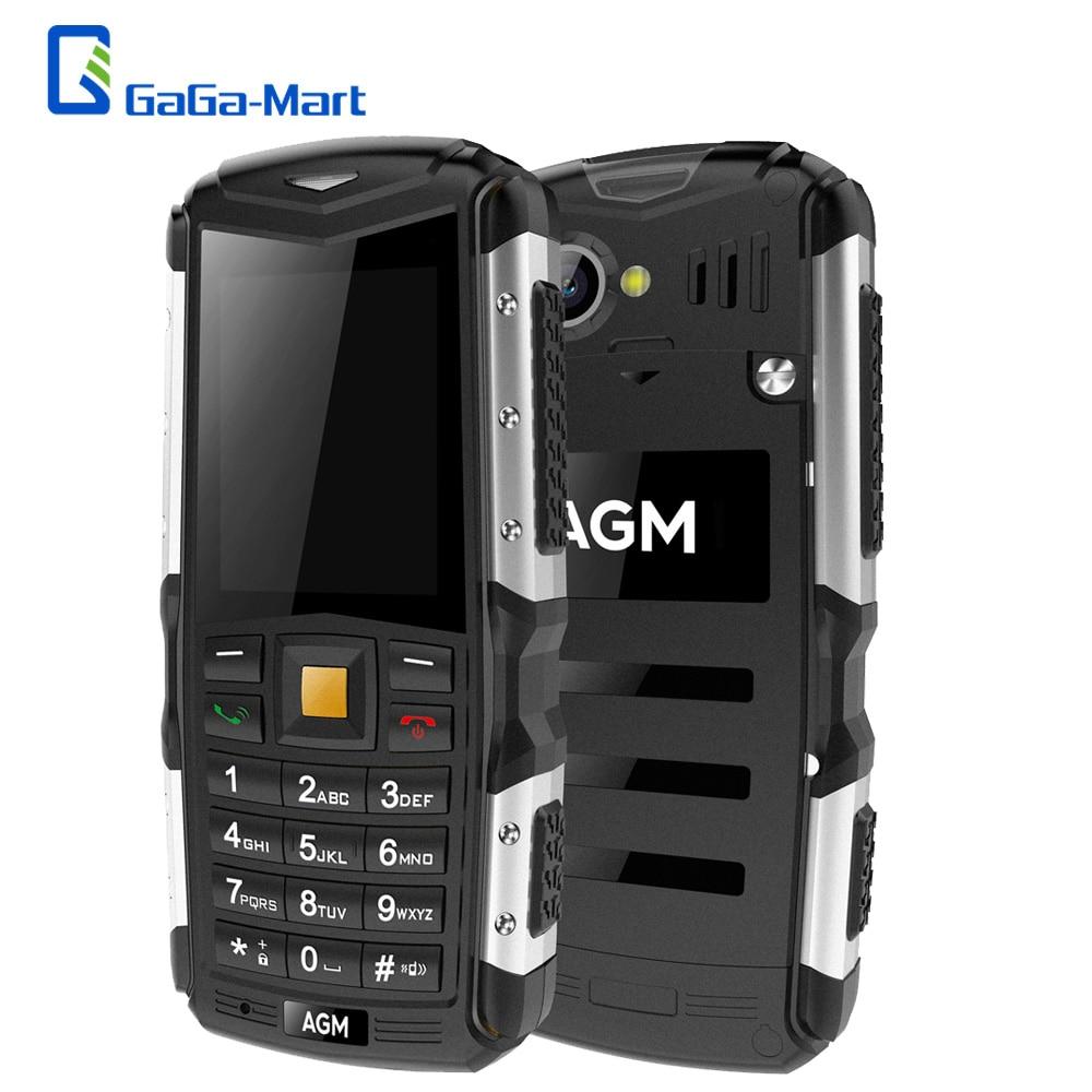 Цена за Новый AGM M1 tri доказательство Мобильный Телефон 2.0 дюймов 128 МБ + 64 МБ 2.0MP Задняя Камера 2570 мАч IP68 водонепроницаемый Dual SIM 3 Г WCMA Мобильного Телефона