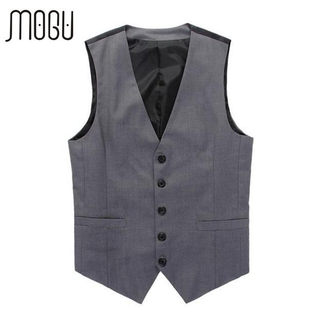 2016 Мода осень платье жилет для мужчин бекхэм жилет мужская британский стиль костюм жилет формальное коммерческая костюм жилет серый цвет colete