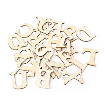 Drewniane A-Z litery alfabetu scrapbooking rękodzieło DIY rzemieślnicze tabela Scatter dekoracji wnętrz fotografia rekwizyty złota litera tanie i dobre opinie Drewna