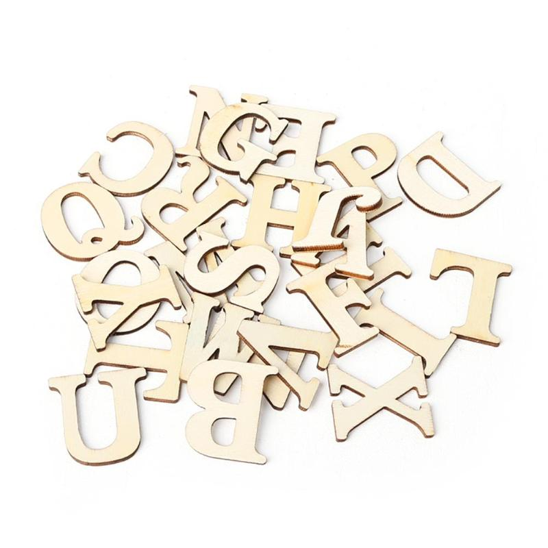 Wooden A-Z Letters Alphabet Scrapbooking Art Craft DIY Handcraft Table Scatter Home Decoration Photography Props Gold Letter