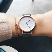 CADISEN Top Brand Fashion Ladies Watches Leather Female Quartz Watch Women Thin Casual Strap Watch Reloj Mujer Marble Dial