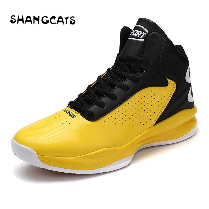 Chaussures de basket jaune pour homme taille 45 46 zapatillas basquetball hombre chaussures de sport basket-ball baskets antidérapantes pour intérieur