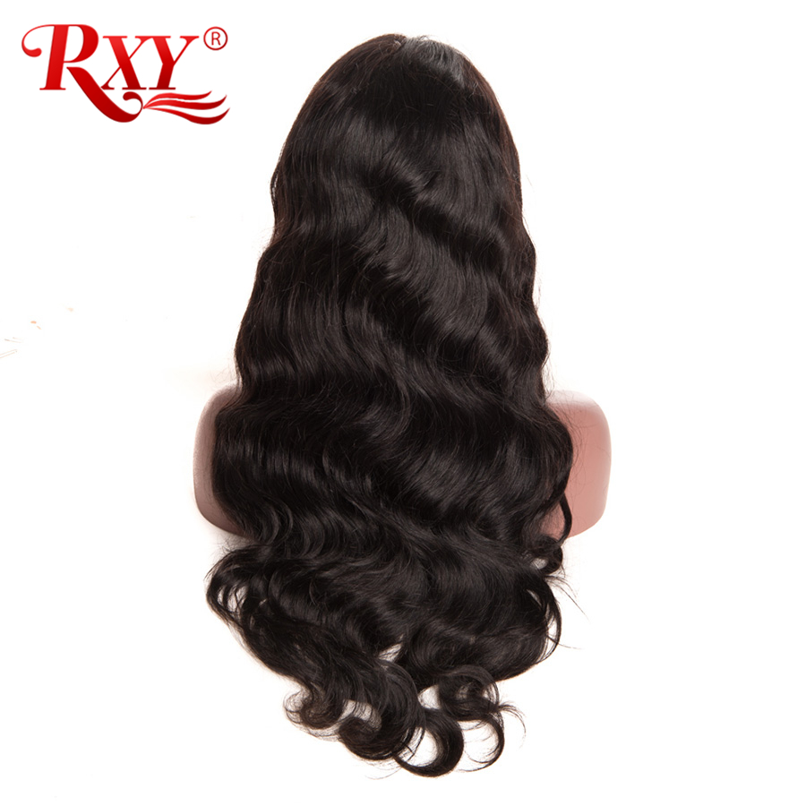 RXY 360 Lace Frontal Wig Pre Plucked With Baby Hair Brazilian Body Wave Lace Front Human Hair Wigs For Women Black Non-Remy Hair (6)