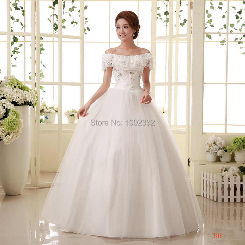 f579336b91b08 s Stock 2016 New Plus size Bridal gown wedding dress bandage lacing slit  neckline women vestidos