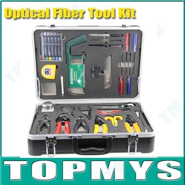 Бесплатная Доставка по DHL волоконно прекращение комплект Волоконно-Оптический Набор Инструментов Универсальный Волоконно-Оптических Прекращение Tool Kit Для FTTx TM-OTK1