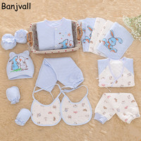 2016 Winter Newborn Baby Girls & Boys Clothing Set Gift Sets Infant Thick Warm 16 Pieces/set 100% Cotton Underwear Suits