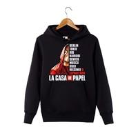 La casa de papel Hoodie Money Heist Dali Mask pullover Hoodie La casa de papel Hooded sweatershirt For Men/Women