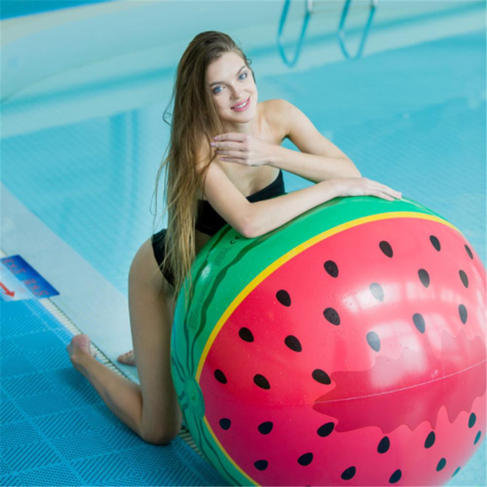90cm Watermelon Shape Inflatable Beach Ball Parent-child Interactive Water Play Toy Summer Pool Party Giant Playing Air Ball