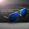 Veithdia marca de moda óculos de sol espelho revestimento de cor polarizada óculos de sol masculino óculos para homens / mulheres 2732