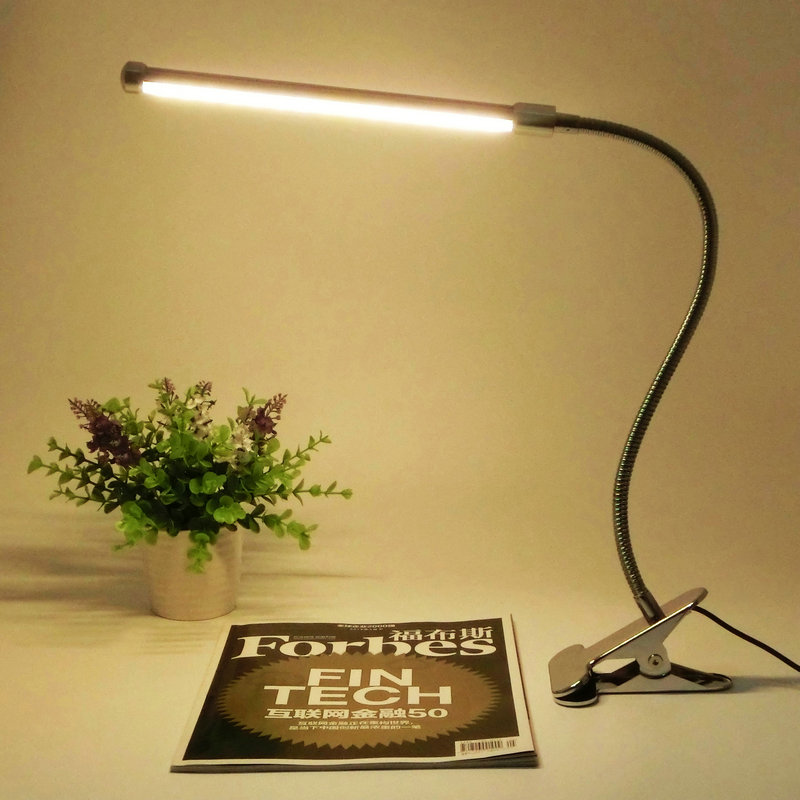 Eye Protection Led Reading Desk Lamp With Clip Two level Brightness Switch Dimmer Table Lamp Energy Saving