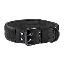 Military Nylon Dog Collar Outdoor Tactical Training Hunting Led Collars Big Dogs Necklace Black Green Brown
