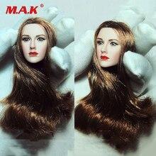 1/6 Scale Blue Eyes Brown Hair Pale Head Carving Fit 12 Phicen Action Figures TBLeague figure CN