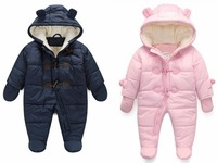 new 2016,winter clothing,down clothes,snowsuit,baby romper,thick warm clothing,newborn,baby overall,boy girl jumpsuit,3 18M