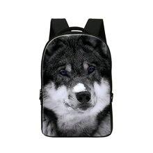 Dispalang персонализированные пользовательские волк снег печатных ранцы для студентов и взрослых мужчин bagpack портативный компьютер, ноутбук рюкзак