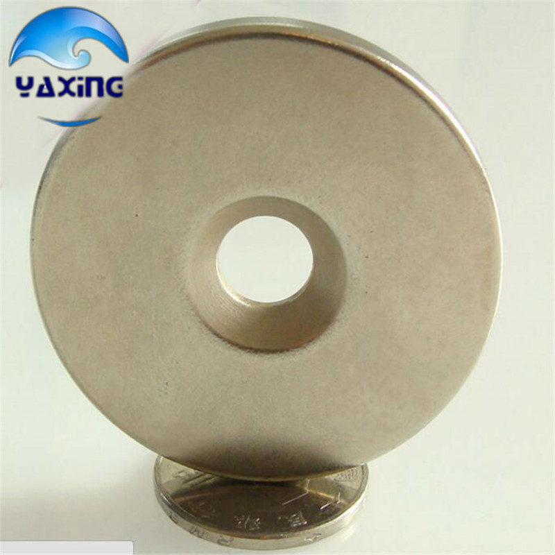 Small round magnets 5pcs Dia50x 5mm hole 10mm Strong Ring Round Magnet Magnets Rare Earth Neodymium
