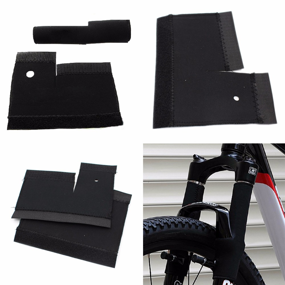 1Pair Bicycle Frame Chain Protector Cycling Mountain Bike Stay Front Fork Protection Guard Protective Pad Wrap Cover