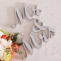 1 Set Wedding Reception Sign Solid Letters Mr Mrs Table Decoration Wedding Event Supply Decorative Carfts